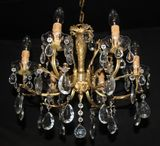 BRASS &  METAL FRENCH STYLE  CHANDELIERS